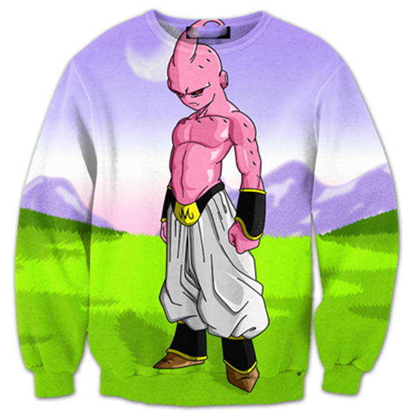 Kid Buu Land 3D Printed Shirts