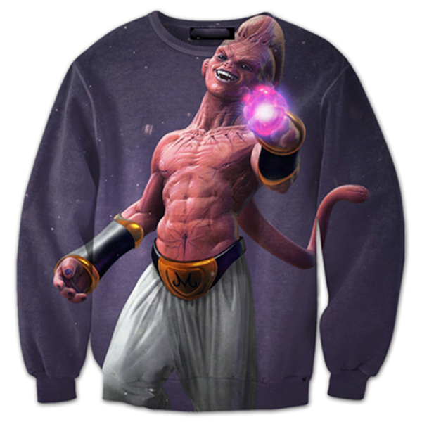 Kid Buu Fantatic 3D Printed Shirts