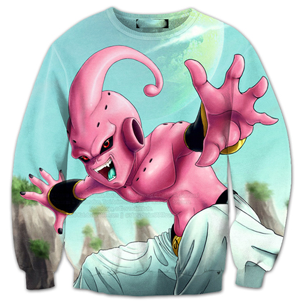 Kid Buu Cool 3D Printed Shirts