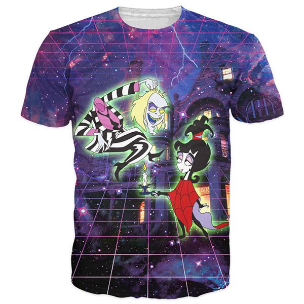 Beetlejuice And Lydia Galaxy Shirts