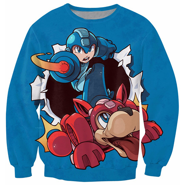Mega Man Blue Shirts