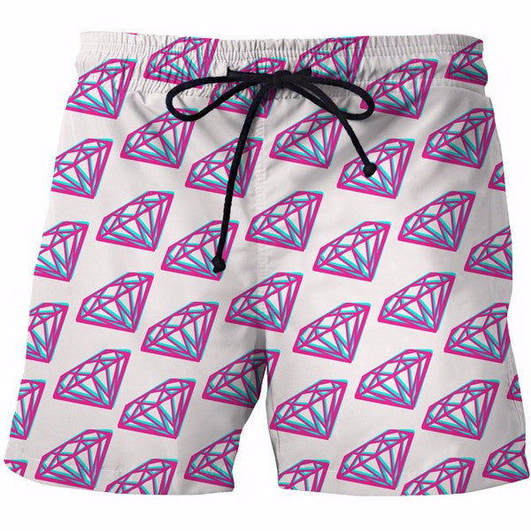 Diamonds 3D Shorts