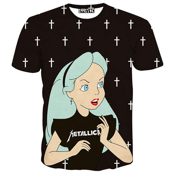 Punk Girl Alice With Cross Shirts
