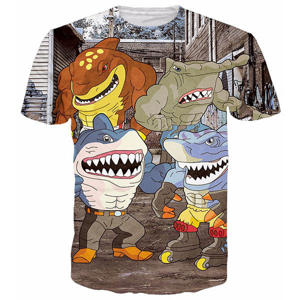 Gym Shark Prints Shirts