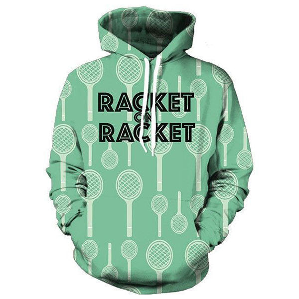 Racket On Racket 3D Shirts
