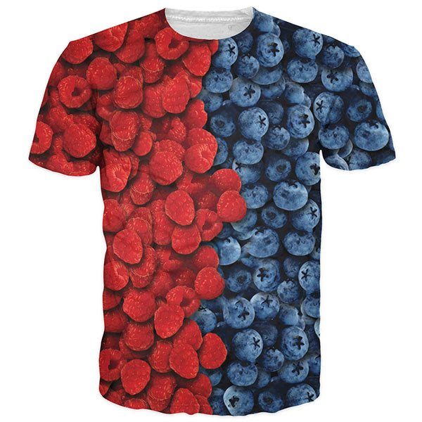 Fresh Raspberries And Blueberries Shirts