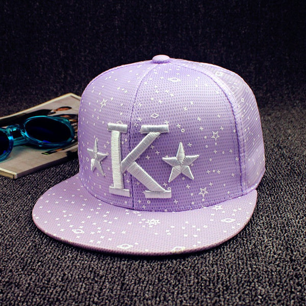 K Star Embroidered Hat