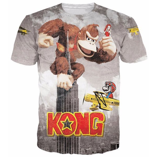 Donkey Kong And Mario Battling Empire State Building Shirts