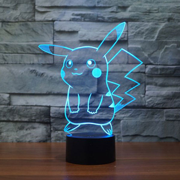 Pikachu Cute 3D LED 7 Colors Lamp