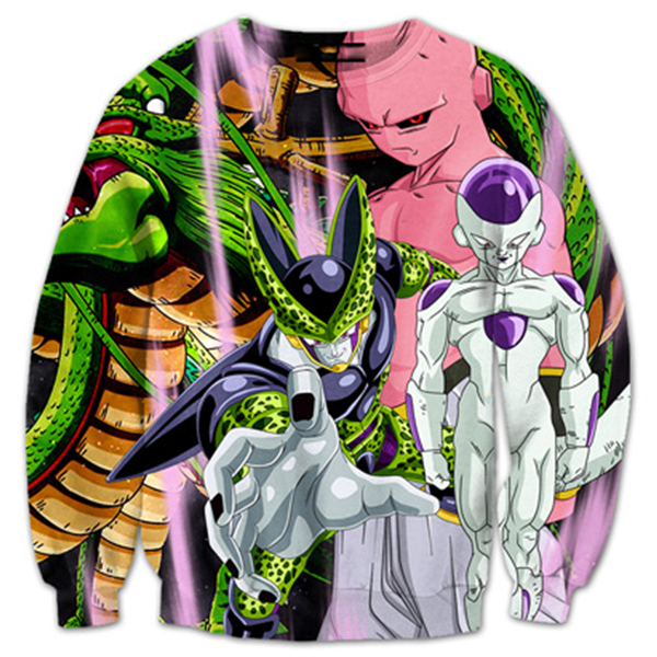 Cell Frieza Kid Buu 3D Printed Shirts