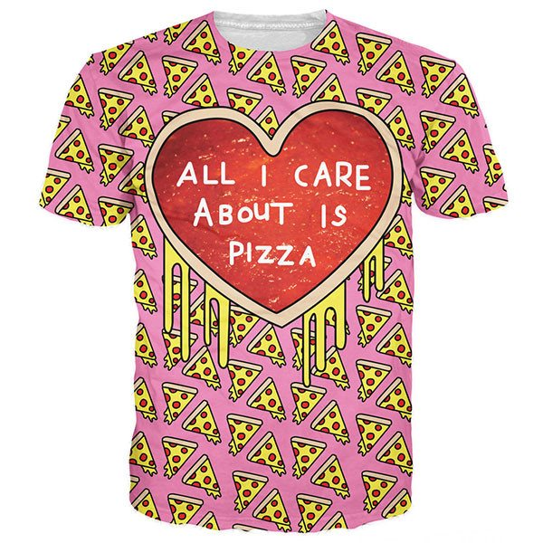 All I Care About Is Pizza Shirts