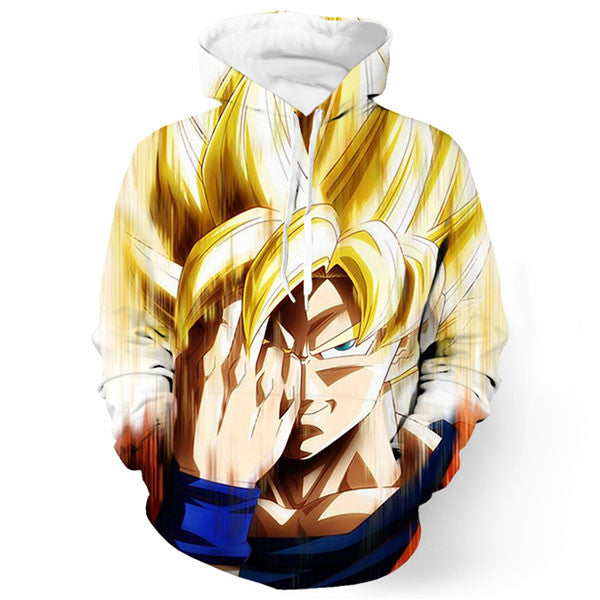 Goku Face Super Saiyan 3D Printed Shirts