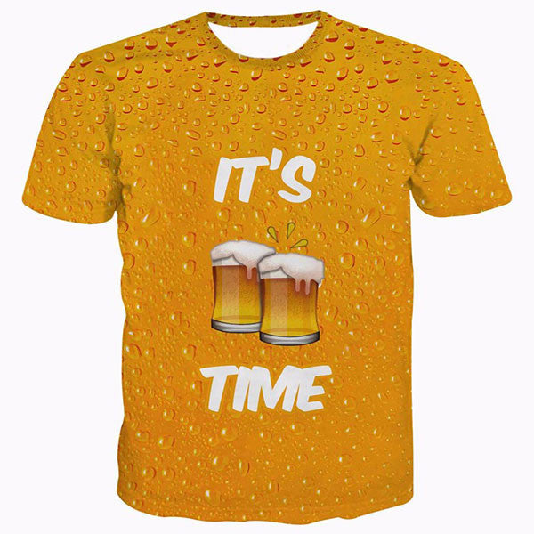 It's Beer Time Printed Shirts