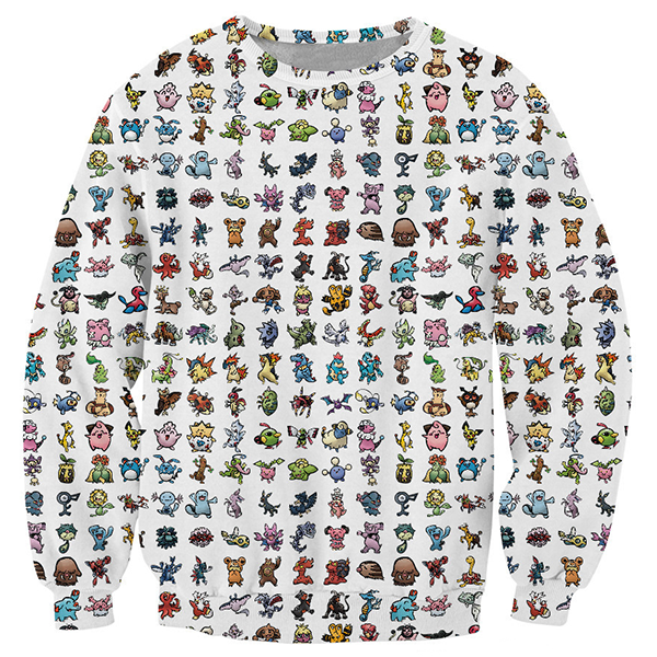 Pokemon Game Printed Shirts