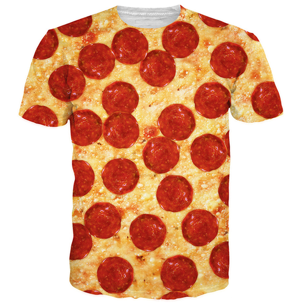 Bacon Pizza 3D Printed Shirts