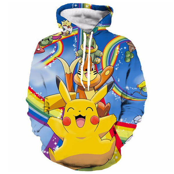 Cute Pikachu Rainbow 3D Shirts