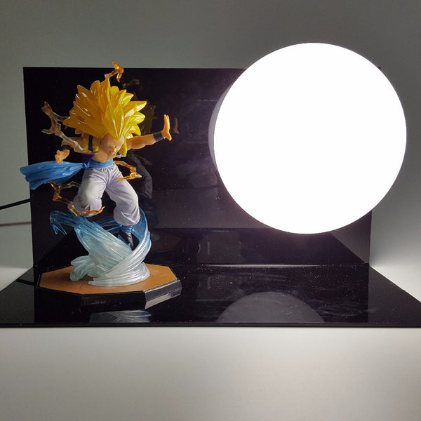 Gotenks Super Saiyan 3 3D Lamp