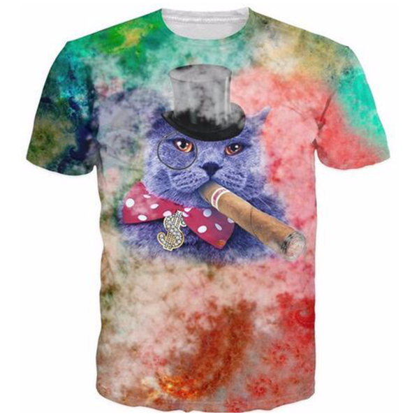 Cat smoking cigar Shirts