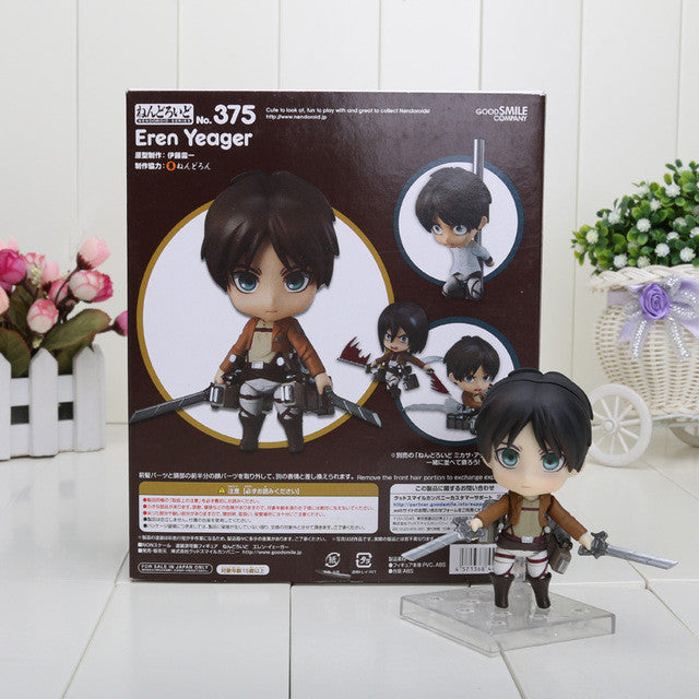 Nendoroid Eren Jaeger Attack on Titan Q Version PVC Toy