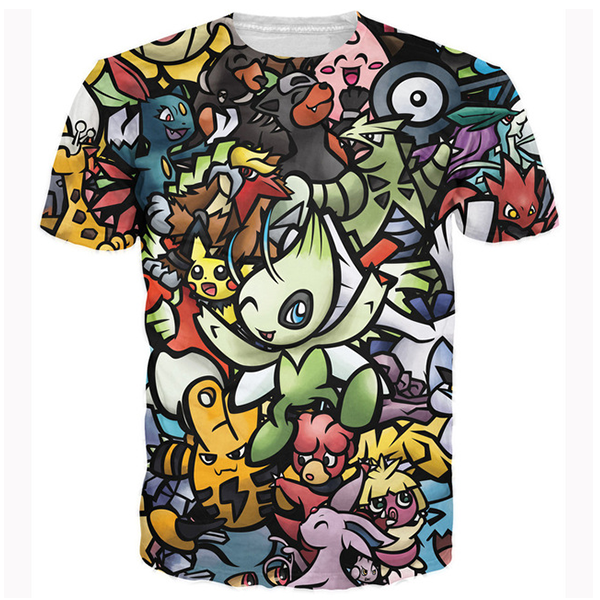 Pokemon 3D Printed Shirts