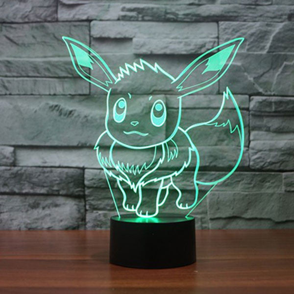 Eevee 3D LED 7 Colors Lamp