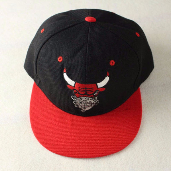 Black And Red Bull Head Hat