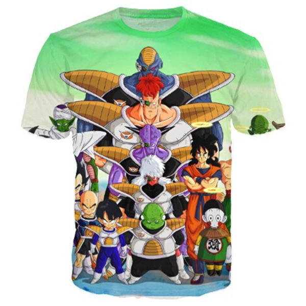 DBZ Green 3D Printed Shirts