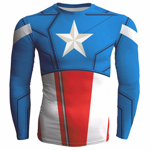 Captain America Fitness Shirts