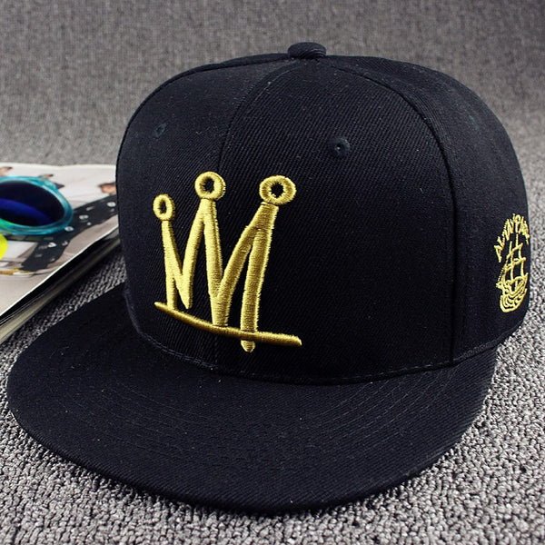 Crown Letter Snapback Hat