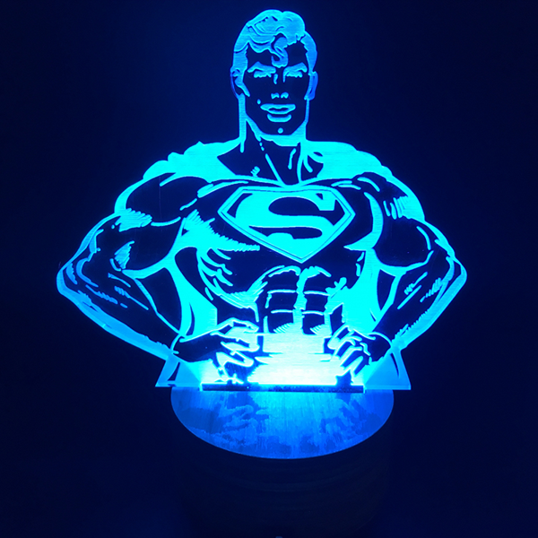 Superman Color Changing Light 3D Lamp