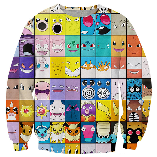 Pokemon Face Printed Shirts