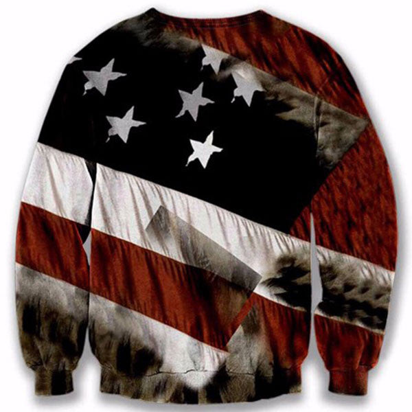 American Flag Face Eagle 3D Shirts