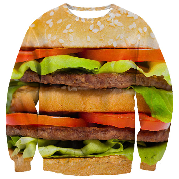 Hamburger 3D Printed Shirts