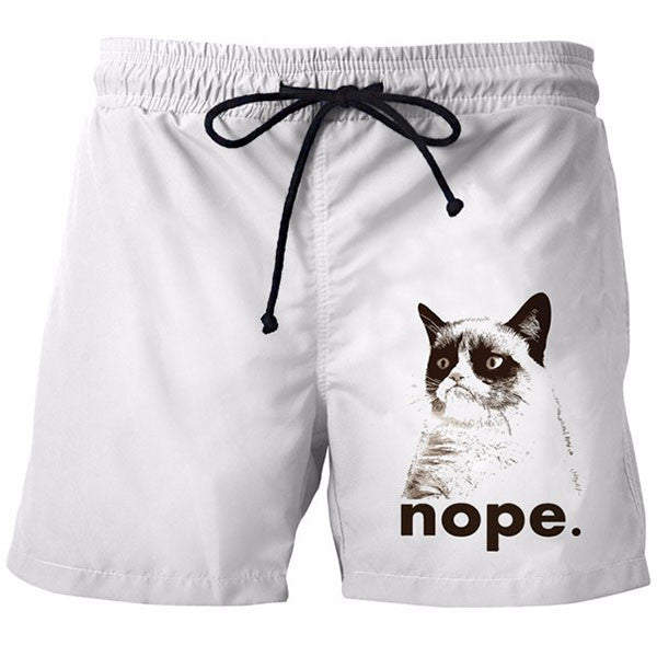 Nope Cat Shorts