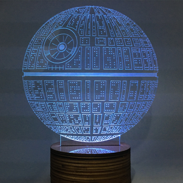 Death Star Color Changing Light 3D Lamp