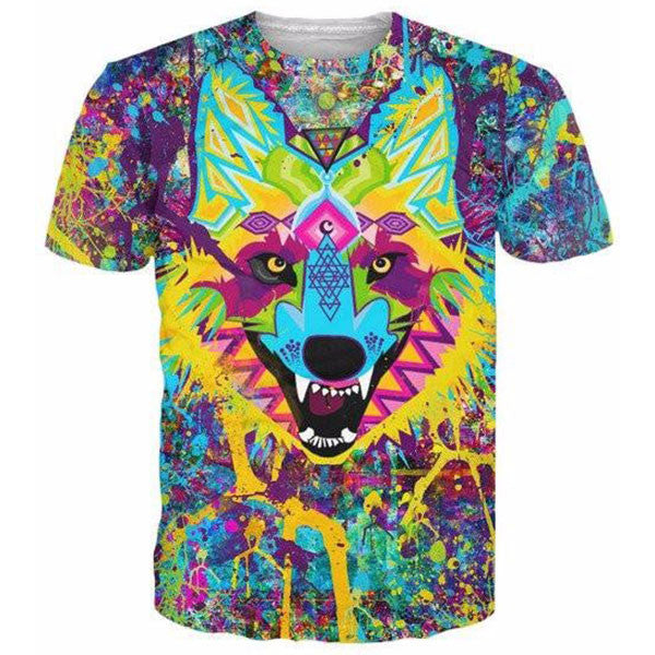 Wolf Colorful Printed Shirts