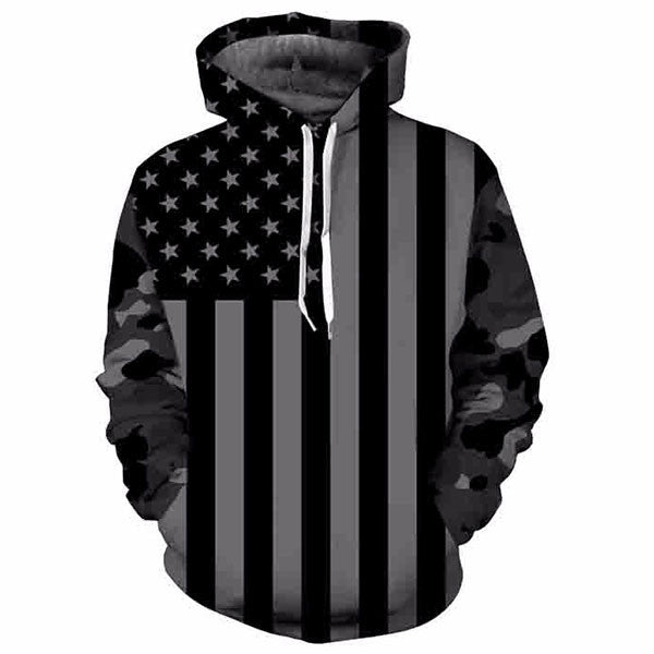 Black America Flag Printed Shirts