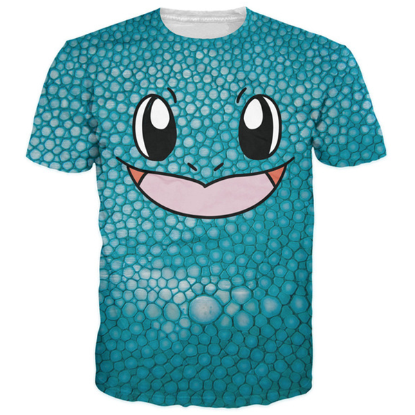 Squirtle Face 3D Tee Shirts