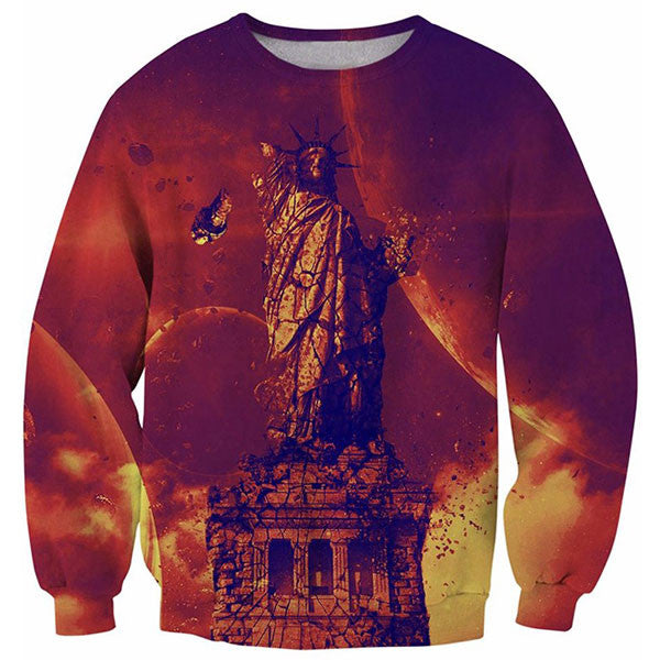 The Statue Of Liberty Destroyed 3D Shirts