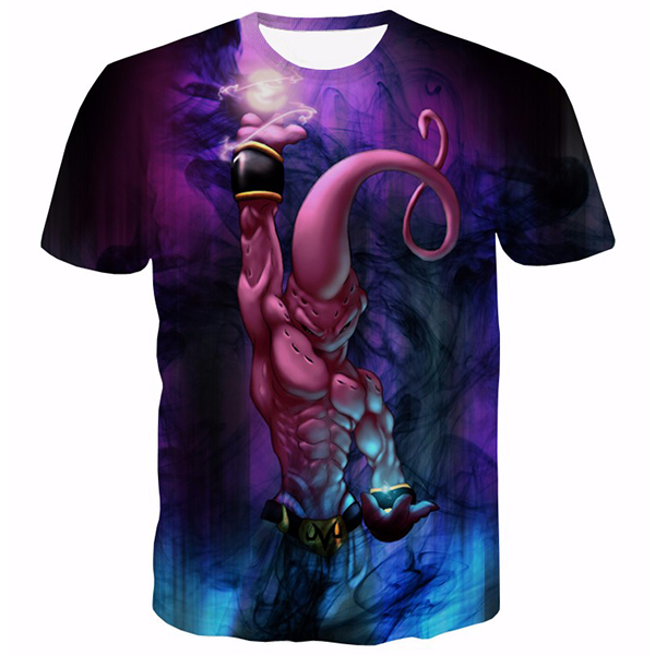 Kid Buu Skill 3D Printed Shirts