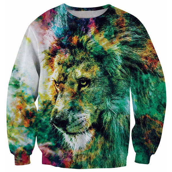 Cool Pop Art Painting Lion 3D Shirts