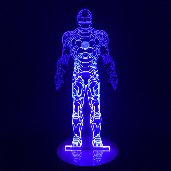 Iron Man Bulbing Color Changing 3D Lamp