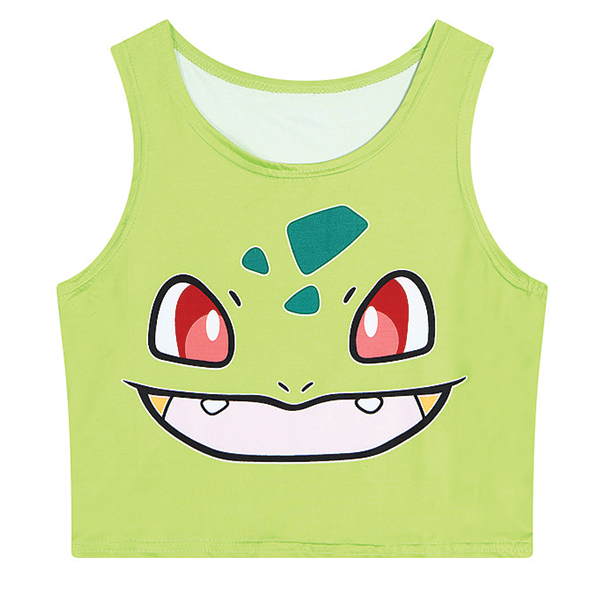 Pokemon 3D Printed Crop Top Shirts