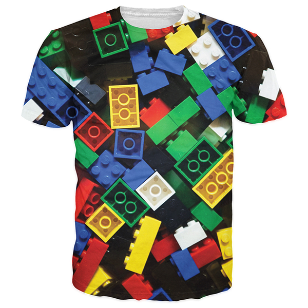 Lego Toy 3D Printed Shirts
