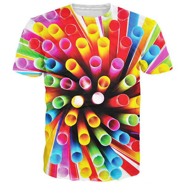 Colored Plastic Straws Shirts