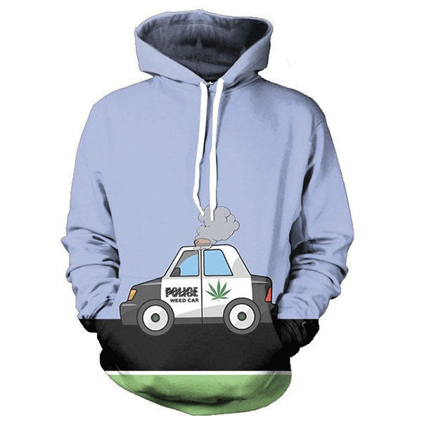Police Weed Car 3D Shirts
