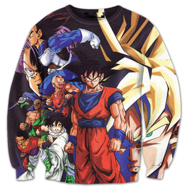 Goku and Friends 3D Printed Shirts