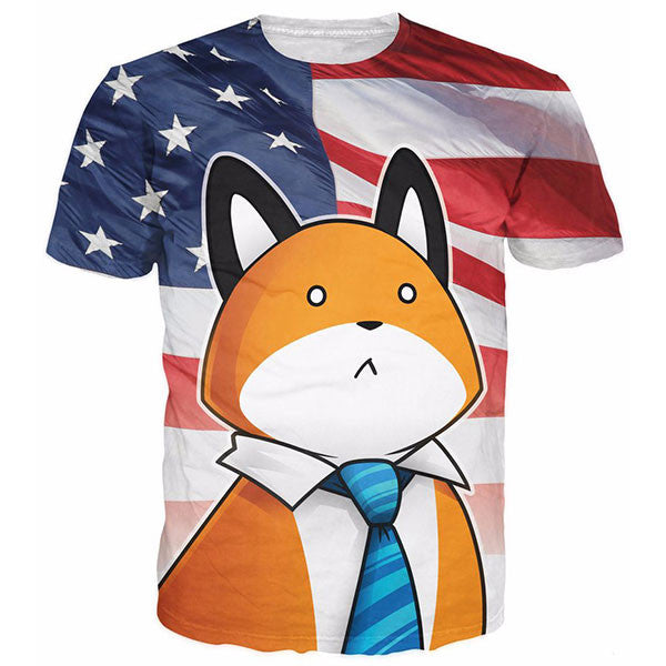 Stupid Fox America Flag Shirts