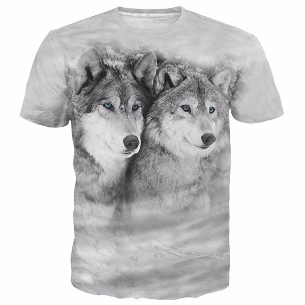 Two Wolves 3D Shirts