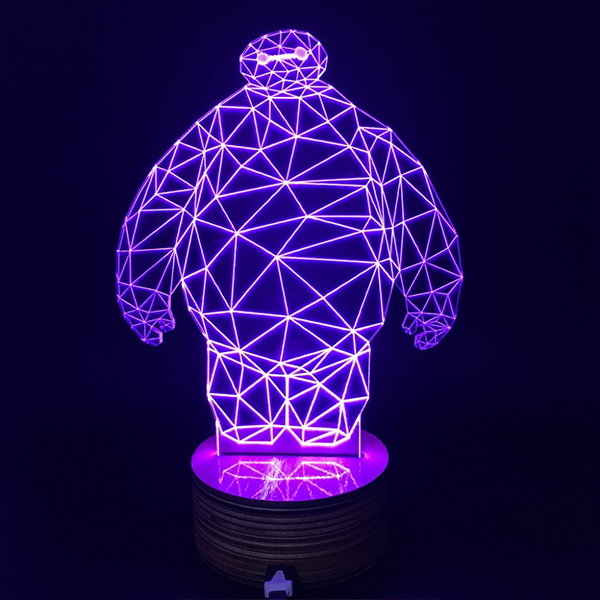 Baymax Color Changing Bulbing Light 3D Lamp
